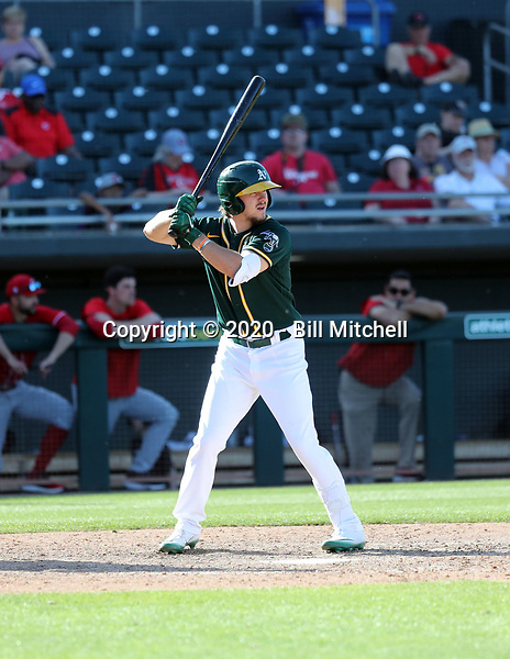 Austin Beck - Oakland Athletics 2020 spring training (Bill Mitchell)
