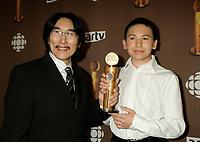 "Montreal (Qc) CANADA - March 29 2009 - Jutras award  Gala (for Quebec Cinema) : Natar Ungalaaq, Meilleur acteur (Best actor), Ce qu""il faut pour vivre (The Necessities of Life aka Inuujjutiksaq) , Paul-Andre Brasseur"