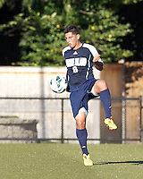 University of Rhode Island (URI) defender Alan Hernandez (6) traps the ball. Boston College defeated University of Rhode Island, 4-2, at Newton Campus Field, September 25, 2012.
