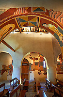 Twelfth century restored Romanesque Frescoes in the church of Saint Joan of Boi, Val de Boi, Alta Ribagorca, Pyranese, Spain. A UNESCO World Heritage Site