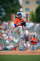 Syracuse Mets pitcher Anthony Kay (27) during an International League game against the Indianapolis Indians on July 17, 2019 at Victory Field in Indianapolis, Indiana.  Syracuse defeated Indianapolis 15-5  (Mike Janes/Four Seam Images)