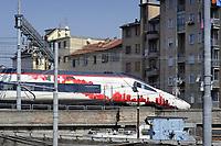 - Milano, scalo ferroviario della Stazione Centrale, treno Alta Velocità Svizzero/Tedesco<br /> <br /> - Milan, Central Station railway station, Swiss / German High Speed train