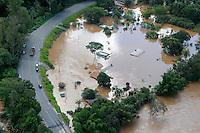 JUATUBA/ MINAS GERAIS / BRASIL (05.01.2012) - Fotos Aereas - Em Juatuba (MG), casas ficam cobertas pelas aguas do Rio Paraopeba. Foto: Douglas Magno / News Free