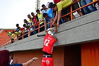 ITAGÜÍ - COLOMBIA, 04-03-2020: Leones F.C. y Boca Juniors de Cali en partido de vuelta por la fase clasificatoria de la Copa BetPlay DIMAYOR 2020 jugado en el estadio Polideportivo Sur de Envigado. / Leones F.C. and Bo in second lesg match between Leones F.C. and Boca Juniors de Cali for the classification phase of the BetPlay DIMAYOR Cup 2020 played at Polideportivo Sur stadiim in Envigado city.  Photo: VizzorImage / Leon Monsalve / Cont