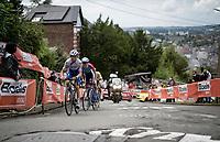 Mauri Vansevenant (BEL/Deceuninck - Quick Step) up the infamous Mur de Huy<br /> <br /> 84th La Flèche Wallonne 2020 (1.UWT)<br /> 1 day race from Herve to Mur de Huy (202km/BEL)<br /> <br /> ©kramon
