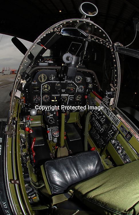 Staff Photo/Mike Ullery.An inside the cockpit view of a rare P-51B Model Mustang at the Gathering of Mustangs and Legends being held this weekend at Rickenbacker Air National Guard Base near Columbus.