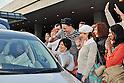 Indian spiritual leader Sri Sri Ravi Shankar arrives at Narita International Airport