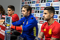 Spainsh marc Bartra, coach Julen Lopetegui and Victor Machin Vitolo during the press conference at Nuevo Los Carmenes Stadium in Granada, Spain. November 11, 2016. (ALTERPHOTOS/Rodrigo Jimenez) //NORTEPHOTO.COM
