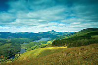 Loch Ard, Ben Lomond and the Arrochar Alps from Craigmore, Loch Lomond and The Trossachs National Park, Stirlingshire