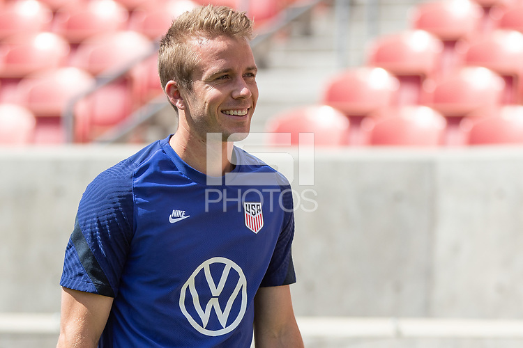 SANDY, UT - JUNE 8: Jackson Yell of the United States during a training session at Rio Tinto Stadium on June 8, 2021 in Sandy, Utah.