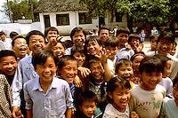 Fun portrait of schoolchildren in China