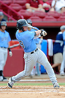 Catcher Mike Perez (29) of the Old Dominion Monarchs in an NCAA Division I Baseball Regional Tournament game against the Maryland Terrapins on Friday, May 30, 2014, at Carolina Stadium in Columbia, South Carolina. Maryland won, 4-3. (Tom Priddy/Four Seam Images)