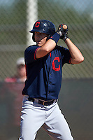 Cleveland Indians Connor Marabell (35) during an instructional league game against the Milwaukee Brewers on October 8, 2015 at the Maryvale Baseball Complex in Maryvale, Arizona.  (Mike Janes/Four Seam Images)