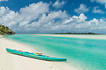 Ready for a canoe trip at Aitutaki Lagoon Resort & Spa on Aitutaki, Cook Islands