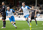 Motherwell v St Johnstone…05.05.18…  Fir Park    SPFL<br />Steven MacLean celebrates scoring his third goal in his final ever game for St Johnstone<br />Picture by Graeme Hart. <br />Copyright Perthshire Picture Agency<br />Tel: 01738 623350  Mobile: 07990 594431