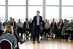 © Joel Goodman - 07973 332324 . 19/05/2016 . Salford , UK . Shadow Home Secretary ANDY BURNHAM MP launches his campaign to be the Labour Party's candidate for Mayor of Greater Manchester , from The Compass Room at The Lowry Theatre in Salford . Photo credit : Joel Goodman