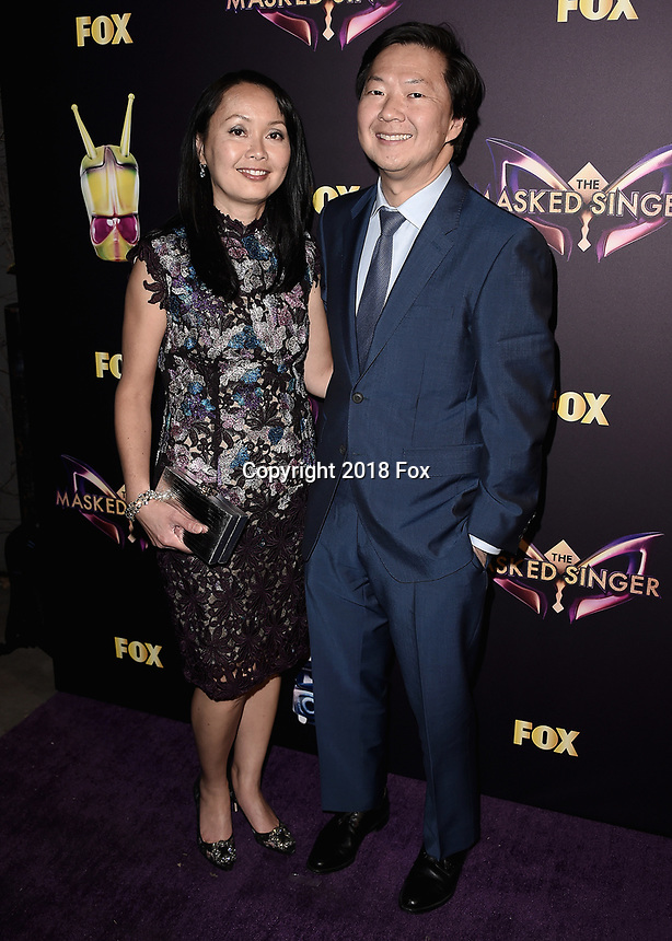 """WEST HOLLYWOOD - DECEMBER 13:  Ken Jeong at the premiere karaoke event for season one of """"The Masked Singer"""" at The Peppermint Club on December 13, 2018 in West Hollywood, California. (Photo by Scott Kirkland/Fox/PictureGroup)"""