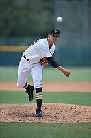GCL Pirates relief pitcher Eumir Sepulveda (68) delivers a pitch during a game against the GCL Braves on July 26, 2017 at Pirate City in Bradenton, Florida.  GCL Braves defeated the GCL Pirates 12-5.  (Mike Janes/Four Seam Images)