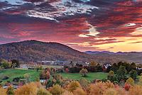 The sun sets over Martha Jefferson Hospital in Charlottesville, VA. Photo/Andrew Shurtleff