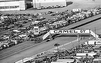 Camel GT bridge, crowd, fans, 12 Hours of Sebring, IMSA Camel GT race, Sebring International Raceway, Sebring, Florida, March 24, 1984.  (Photo by Brian Cleary/www.bcpix.com)