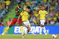 Colombia's Radamel Falcao (r) and Cameroon's Arnaud Djoum during international friendly match. June 13,2017.(ALTERPHOTOS/Acero) (NortePhoto.com) (NortePhoto.com)