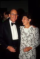 Montreal (Qc) CANADA - File Photo (betwenn 1991 and 1995)- Charles Bronfman, Seagram's co-Chairman.and his wife<br /> <br /> Charles Rosner Bronfman, PC, CC (born June 27, 1931 in Montreal) is a Canadian businessman and philanthropist.<br /> <br /> He is the son of Samuel and Saidye Bronfman; his siblings are Minda, architecture expert Phyllis, and Edgar. He is the uncle of Edgar Bronfman, Jr.. Charles Bronfman is the widower of his second wife, Andrea Bronfman.<br /> <br /> PHOTO :  Agence Quebec Presse