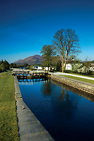 The Caledonian Canal and Neptune's Staircase at Banavie, near Fort William, Lochaber, Highlands