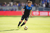 SAN JOSE, CA - SEPTEMBER 30: Tommy Thompson #22 of the San Jose Earthquakes during a Major League Soccer (MLS) match between the San Jose Earthquakes and the Seattle Sounders on September 30, 2019 at Avaya Stadium in San Jose, California.