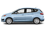 2013 Ford C Max Hybrid SEL Driver side profile Stock Photo