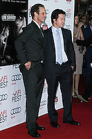 """HOLLYWOOD, CA - NOVEMBER 12: Peter Berg, Mark Wahlberg at the AFI FEST 2013 - """"Lone Survivor"""" Premiere held at TCL Chinese Theatre on November 12, 2013 in Hollywood, California. (Photo by David Acosta/Celebrity Monitor)"""