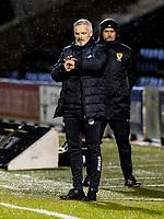 2nd February 2021; St Mirren Park, Paisley, Renfrewshire, Scotland; Scottish Premiership Football, St Mirren versus Hibernian; St Mirren manager Jim Goodwin checks his watch