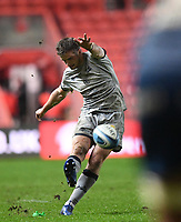 5th February 2021; Ashton Gate Stadium, Bristol, England; Premiership Rugby Union, Bristol Bears versus Sale Sharks; in the final play of the match AJ Macginty of Sale Sharks kicks a penalty to leave the score 13-20