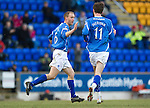St Johnstone v Dundee United...11.02.12.. SPL.Steven Anderson celebrates his goal.Picture by Graeme Hart..Copyright Perthshire Picture Agency.Tel: 01738 623350  Mobile: 07990 594431