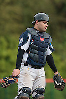 23 October 2010: Vincent Ferreira of Savigny looks dejected during Savigny 8-7 win (in 12 innings) over Rouen, during game 3 of the French championship finals, in Rouen, France.