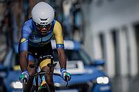 Diane Ingabire (RWA)<br /> <br /> 88th UCI Road World Championships 2021 – ITT (WC)<br /> Women Elite Time trial from Knokke-Heist to Brugge (30.3km)<br /> <br /> ©Kramon
