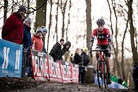 eventual race winner Annemarie Worst (NED/777)<br /> <br /> 82nd Druivencross Overijse 2019 (BEL)<br />  <br /> ©kramon