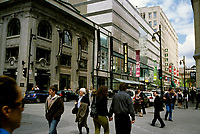 Montreal (Qc) CANADA - May 2008 -<br /> Eaton Centre on Saint catherine Street at McGill College in downtown.<br /> -Photo (c)  Images Distribution