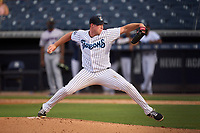 Tampa Tarpons pitcher Matt Sauer (47) during a game against the Fort Myers Mighty Mussels on May 19, 2021 at George M. Steinbrenner Field in Tampa, Florida. (Mike Janes/Four Seam Images)