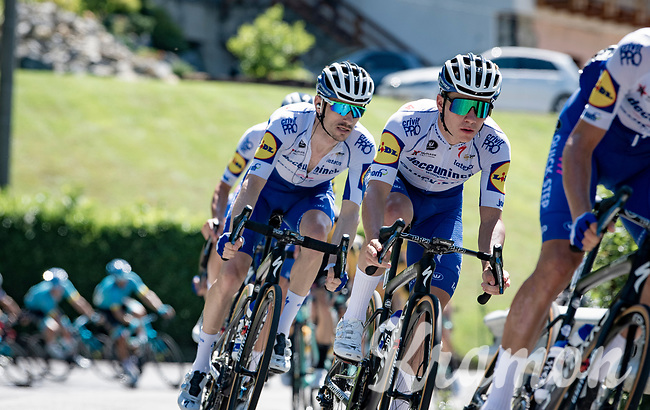 Remco Evenepoel (BEL/Deceuninck-Quickstep) descending from the first climb of the day: the Colle Gallo<br /> <br /> 114th Il Lombardia 2020 (1.UWT)<br /> 1 day race from Bergamo to Como (ITA/231km) <br /> <br /> ©kramon