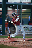 Nicholas Martinez (4) of Pembroke Pines Charter HS High School in Pembroke Pines, Florida during the Under Armour All-American Pre-Season Tournament presented by Baseball Factory on January 14, 2017 at Sloan Park in Mesa, Arizona.  (Art Foxall/Mike Janes Photography)