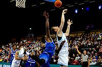 GRONINGEN - FIBA Basketbal-bubbel. Donar - Allianz Swans Gmunden seizoen 2021-2022, 29-09-2021, Donar speler Thomas Koenis