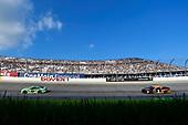 #18: Kyle Busch, Joe Gibbs Racing, Toyota Camry Interstate Batteries and #1: Jamie McMurray, Chip Ganassi Racing, Chevrolet Camaro GEARWRENCH