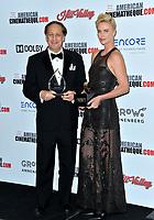 LOS ANGELES, USA. November 09, 2019: Charlize Theron & Adam Aron at the American Cinematheque Award Gala honoring Charlize Theron at the Beverly Hilton.<br /> Picture: Paul Smith/Featureflash