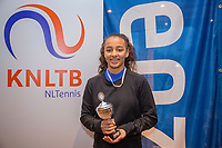 Hilversum, Netherlands, December 3, 2017, Winter Youth Circuit Masters, 12,14,and 16 years, 5 th place girls 14 years  Warda ait el Bachier<br /> Photo: Tennisimages/Henk Koster