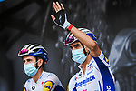 Julian Alaphilippe (FRA) Deceuninck-Quick Step at the Team Presentation before the start of Stage 1 of Criterium du Dauphine 2020, running 218.5km from Clermont-Ferrand to Saint-Christo-en-Jarez, France. 12th August 2020.<br /> Picture: ASO/Alex Broadway | Cyclefile<br /> All photos usage must carry mandatory copyright credit (© Cyclefile | ASO/Alex Broadway)