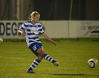 20140326 - AALTER , BELGIUM : Gent's Marijke Philips pictured during the soccer match between the women teams of Club Brugge Vrouwen  and AA Gent  Ladies , on the 21th matchday of the BeNeleague competition Friday 14 March 2014 in Aalter. PHOTO DAVID CATRY