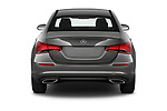 Straight rear view of 2019 Mercedes Benz A-Class A-200 4 Door Sedan Rear View  stock images