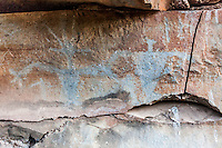 Authentic Hawaiian petroglyphs of human figures, Olowalu, Maui