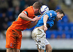 St Johnstone v Kilmarnock.....28.02.15<br /> Mark O'Hara heads the ball into the back of Steven MacLean<br /> Picture by Graeme Hart.<br /> Copyright Perthshire Picture Agency<br /> Tel: 01738 623350  Mobile: 07990 594431