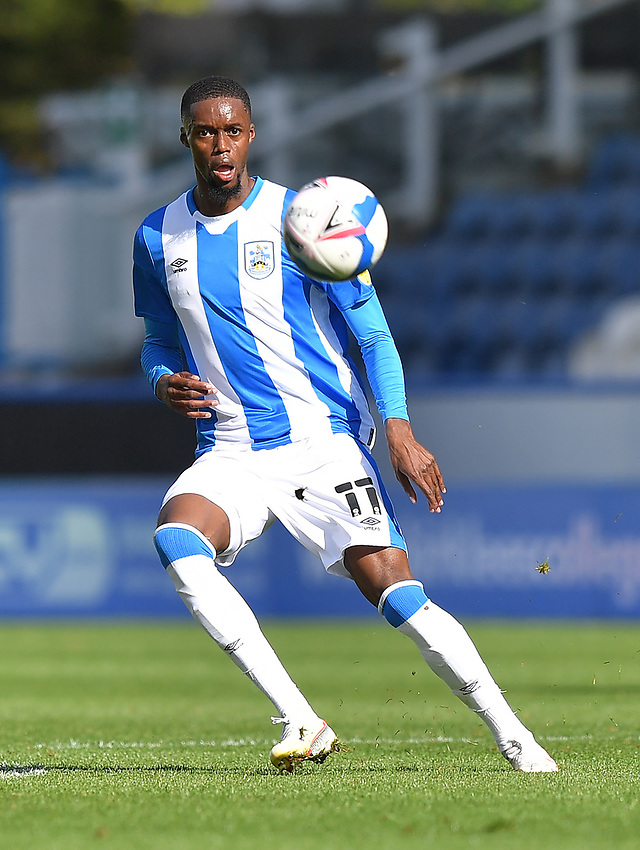 Huddersfield Town's Adama Diakhaby<br /> <br /> Photographer Dave Howarth/CameraSport<br /> <br /> The EFL Sky Bet Championship - Huddersfield Town v Norwich - Saturday September 12th 2020 - The John Smith's Stadium - Huddersfield<br /> <br /> World Copyright © 2020 CameraSport. All rights reserved. 43 Linden Ave. Countesthorpe. Leicester. England. LE8 5PG - Tel: +44 (0) 116 277 4147 - admin@camerasport.com - www.camerasport.com